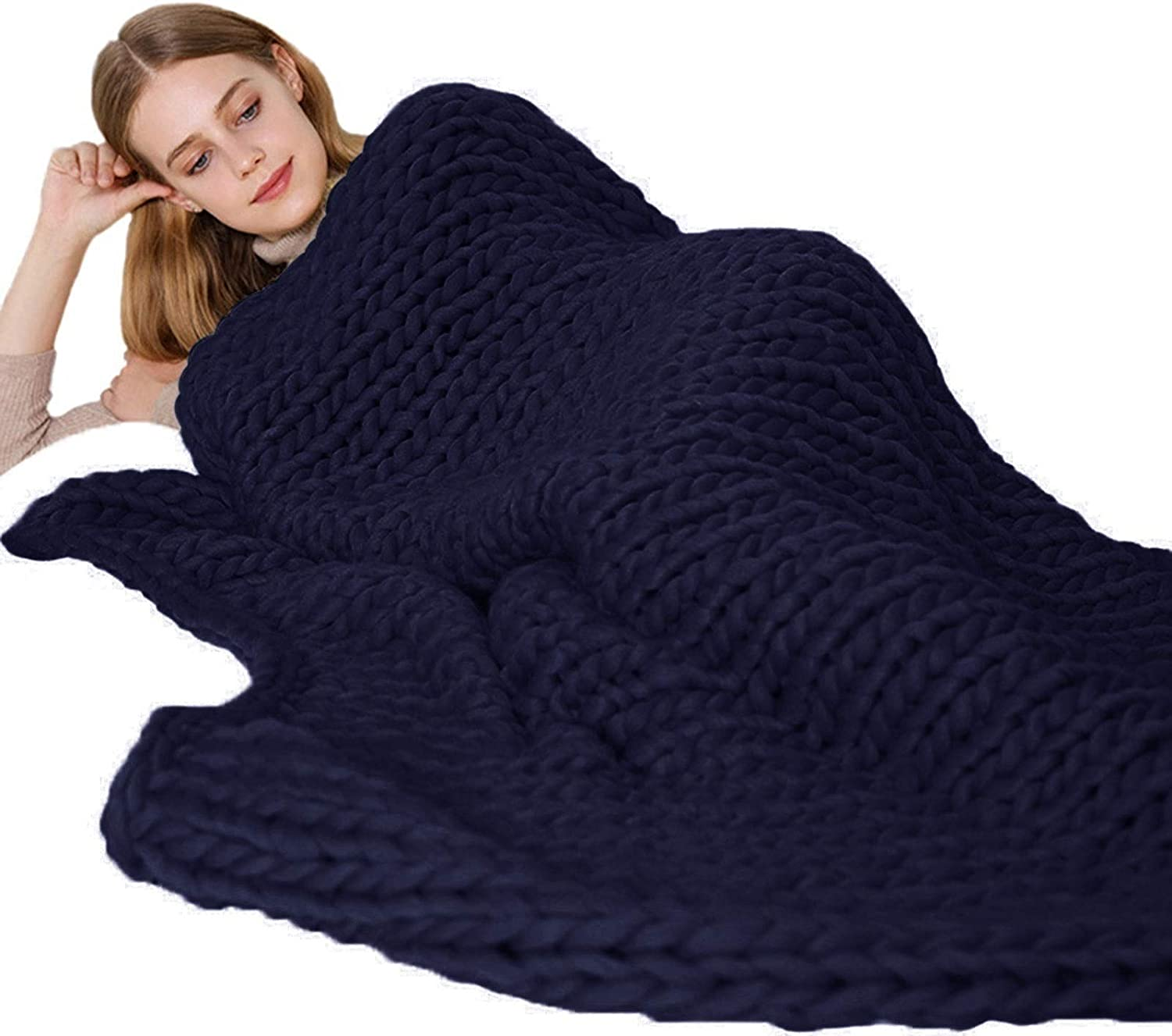 Chunky Knit NEW before selling ☆ Blanket Luxury Polyester Super Fiber Bulky Hand Made Sale