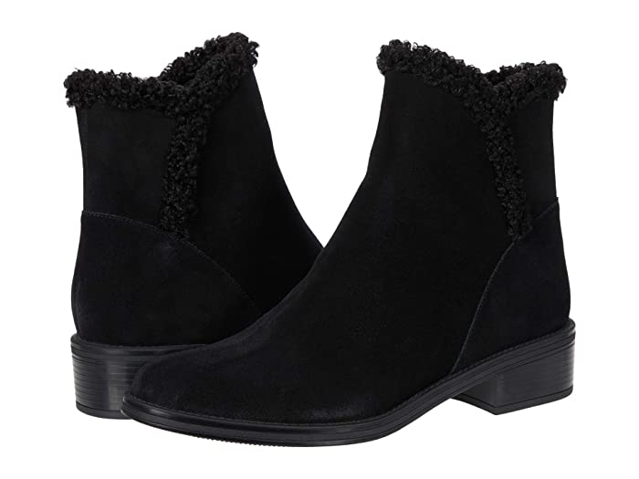 Vintage Boots- Buy Winter Retro Boots Vaneli Relis Waterproof Black SuedeBlack Faux Shearling Womens Boots $249.95 AT vintagedancer.com