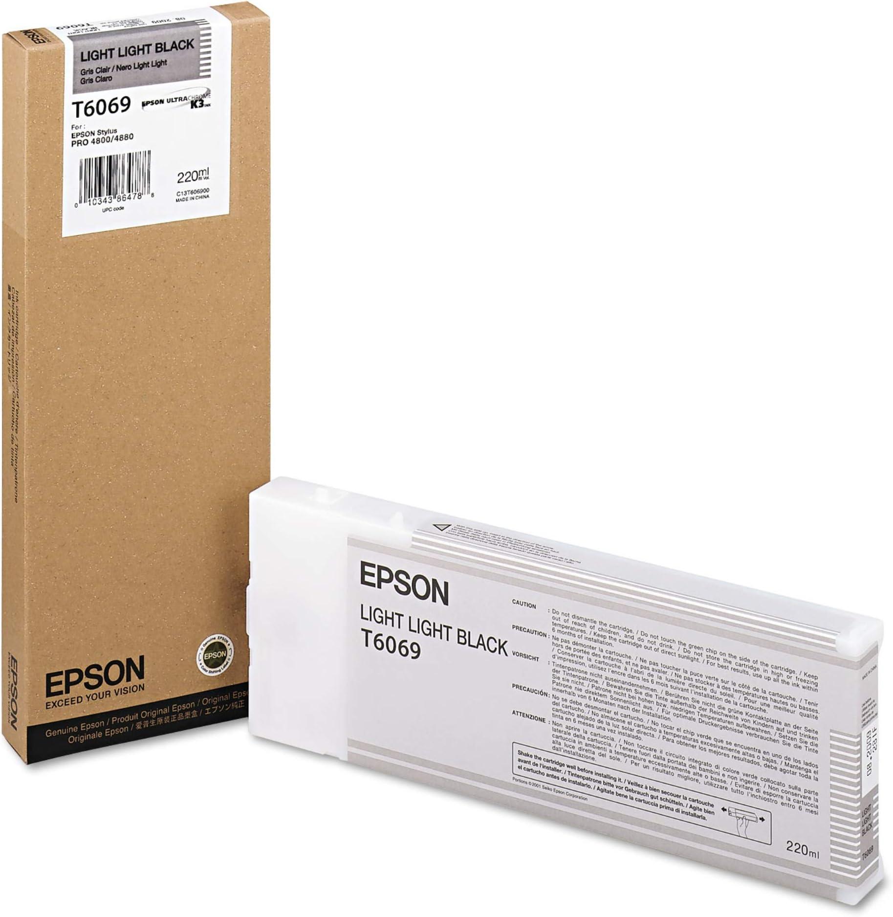Epson UltraChrome K3 Ink Cartridge - 220ml Light Light Black (T606900)