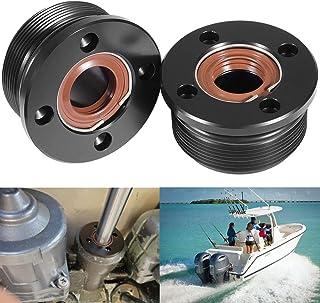 Yoursme Zierkappenzylinder mit Dichtungen passend für Yamaha 200 300 HP Ersatz OEM 61A 43821 00 00 FSM040 (2 Stück)