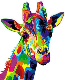 Mumoo Bear DIY Oil Painting Animal Giraffe Kits, 16 Inch x 20 Inch Size