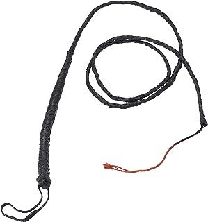 Smiffys Long Bull Whip, 182 cm Length, Black