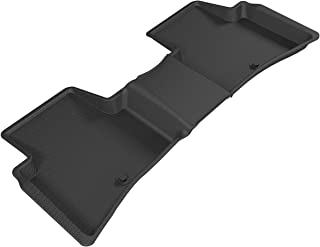 3D MAXpider L1HY06621509 Second Row Custom Fit All-Weather Floor Mat for Select Hyundai Tucson Models - Kagu Rubber (Black)