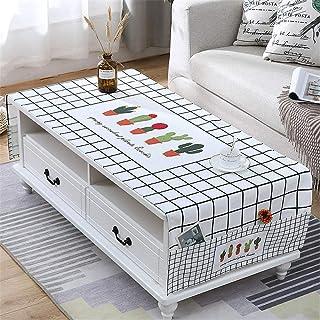 LMWB Bordsduk, teduk vattentät rektangulär engångs bordsduk av bomull och linne E_80 x 180 cm