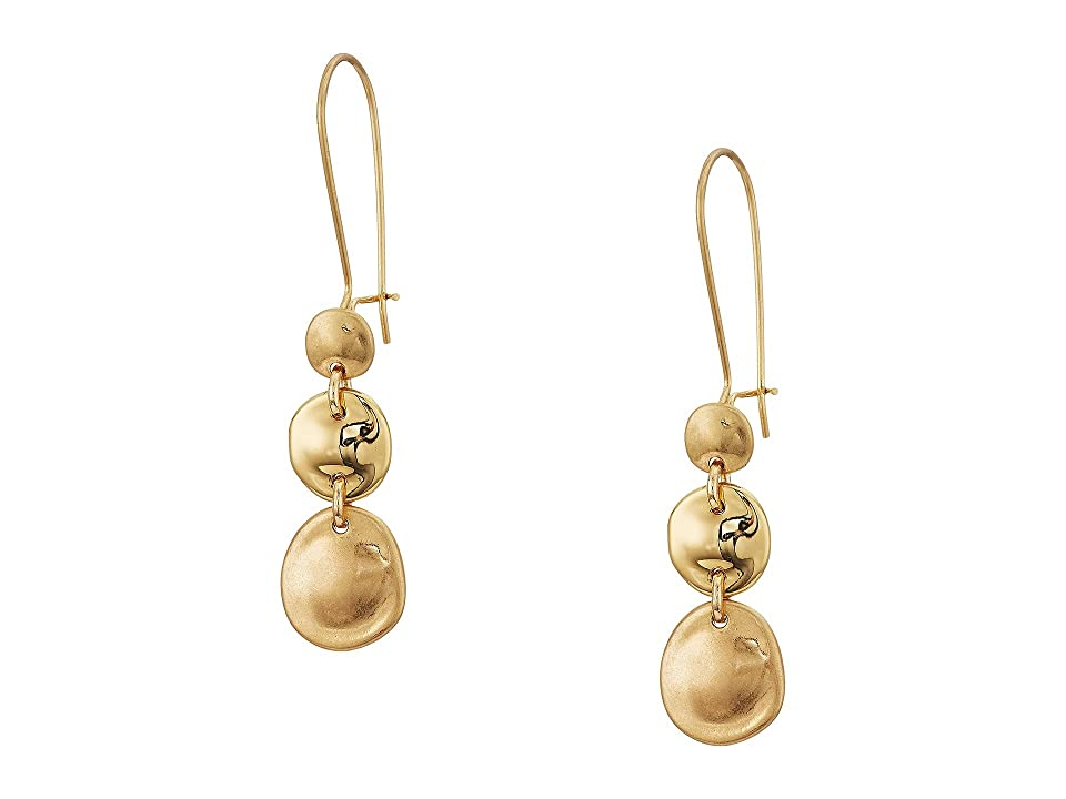 Robert Lee Morris - Robert Lee Morris Gold Disc Drop Shephard Hook Earrings
