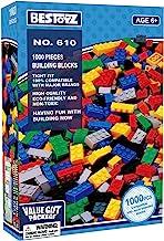 Bestoyz 1000 PCS Building Bricks, Bulk Blocks Toy, Big Pack of Basic Pieces, Tight Fit and...