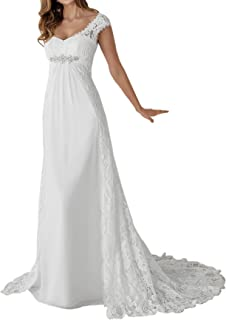 Zhongde Empire Maternity Two Pieces Cap Sleeves Bridal Gown Wedding Dress Bride