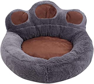 Warm Comfort Dog Bed, Upgraded Cat Paw Shape Pet Bed Donut Cuddler Round Dog And Cat Cushion Bed, Ultra Soft Cozy Pet Beds...
