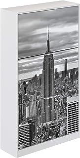 comprar comparacion Movian Constance Modern - Armario zapatero de 3 puertas Nueva York, 25 x 75 x 128 cm (Nueva York)
