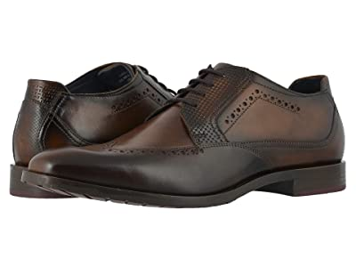 Stacy Adams Rooney Wing Tip Oxford (Tan/Burgundy) Men