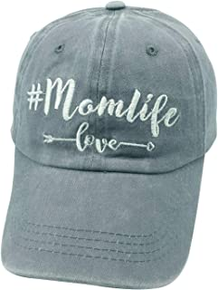 Embroidered Adjustable Mom Life Vintage Washed Distressed Baseball Dad Hats Cap Gift for Mama/Grandma