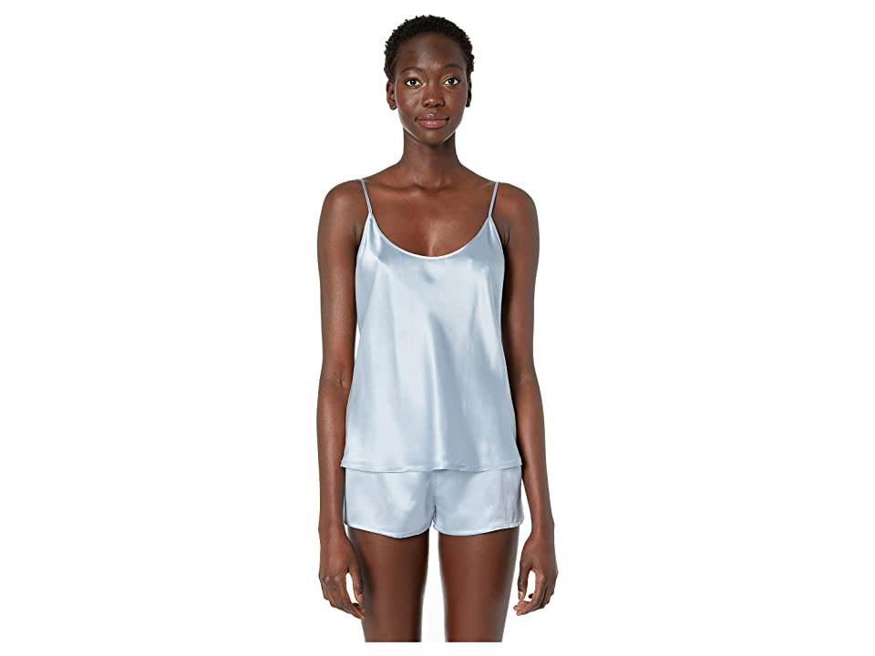 La Perla Silk Cami Top (Grey Blue) Women