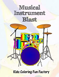 Musical Instrument Blast: Music themed coloring book for toddlers and kids in 36 Drawings.: 4