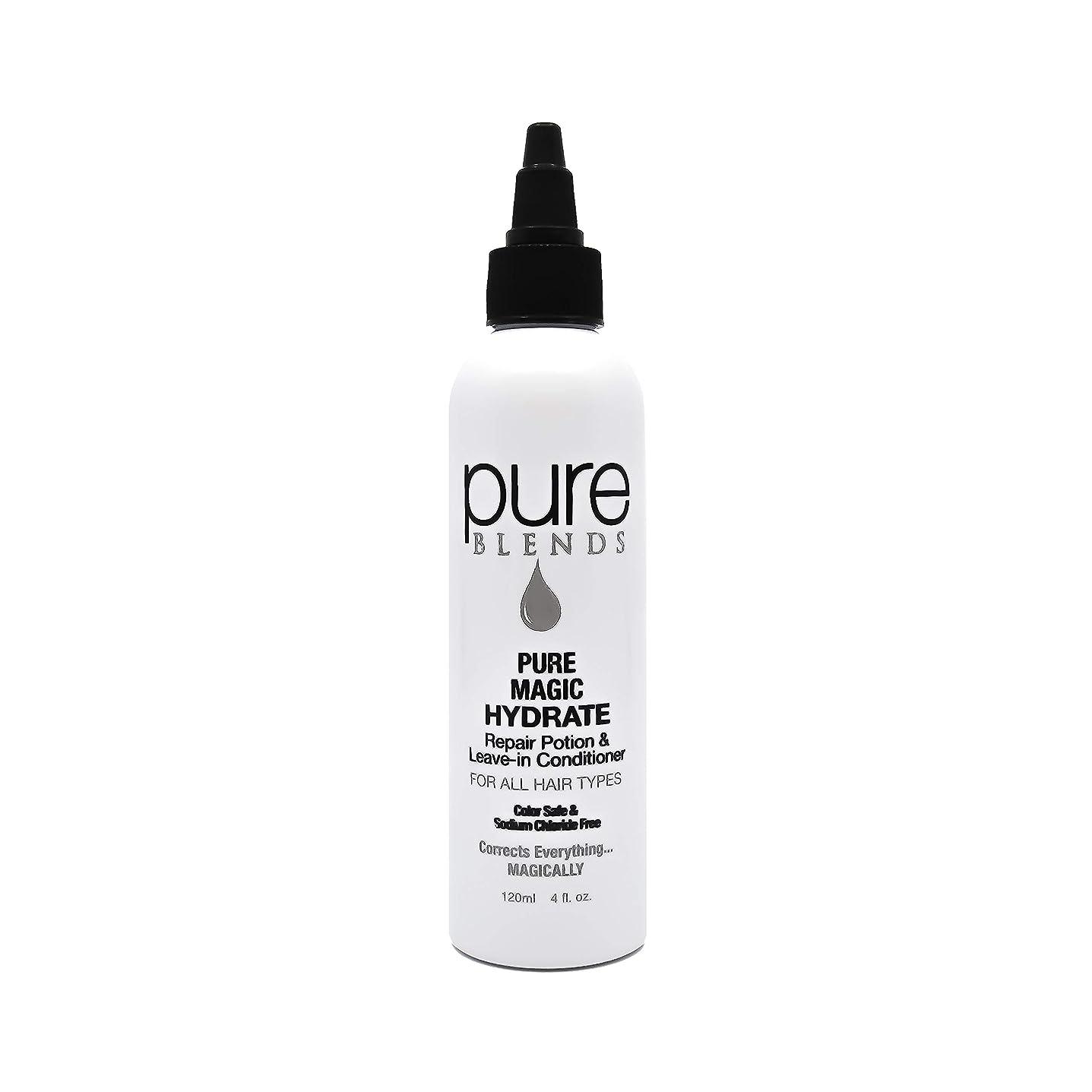 恨み時制休眠Pure Blends ピュアマジックハイド修復ポーションとリーブインコンディショナー4オンス - サロン品質 4オンス。