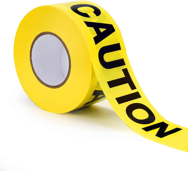 Caution Tape | Bright Yellow Maximum Visibility | Weatherproof |