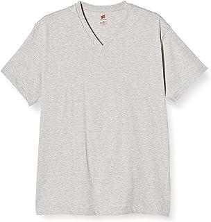 [ヘインズ] Tシャツ着心地良い綿100% 半袖HanesPREMIUMJapanFitVネックTシャツ HM1-F002 メンズ