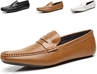 Mens Penny Loafers Driving Moccasins Slip on Loafers Lightweight Comfortable Casual Driving Shoes Boat Shoes for Men