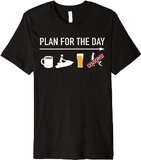 Funny Jet Ski Coffee Ride Beer Sex Adult Humor Boating  Premium T-Shirt