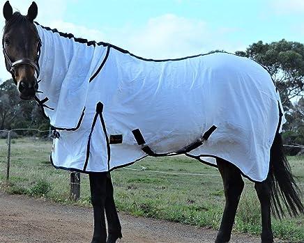"RUMANI Cool 220G Summer Cotton Flag Cloth/FLAGCLOTH Horse Rug Combo 4'6""-7'0"""