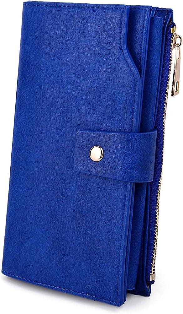 Uto, portafoglio da donna, porta carte di credito, pochette con protezione rfid, porta cellulari, in ecopelle 18000459-6eu