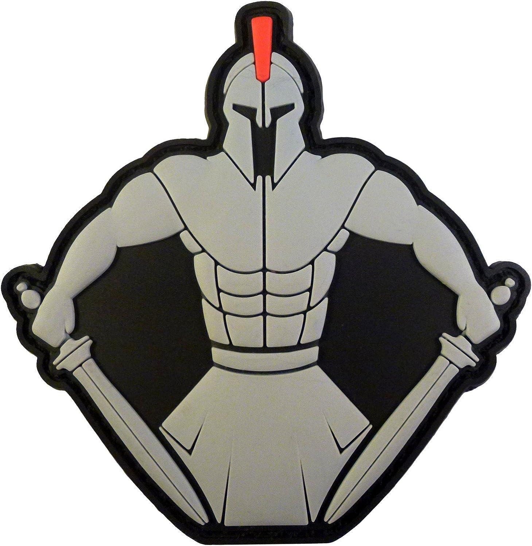 Spartan Warrior Molon Labe Morale Tactical PVC Rubber 3D HookandLoop Patch