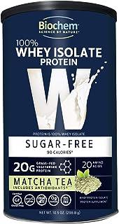 Biochem 100% Whey Isolate Protein - 10.5 oz - Sugar Free Matcha Tea - Antioxidants - Keto-Friendly - Amino Acids - Postwor...