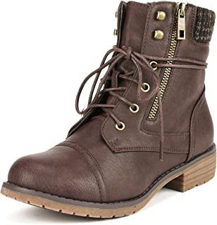 Best mid calf lace up boots with heel Reviews