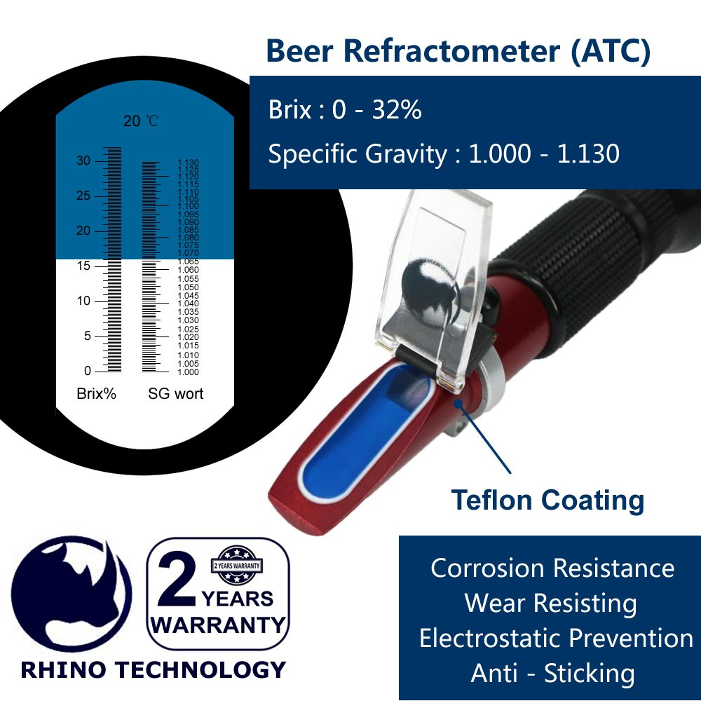 1 000 1 130 Specific Refractometer Handheld Portable