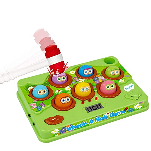 Liberty Imports Whack a Mole Classic Electronic Arcade Game - Kids Educational Musical Learning Bilingual Toy (Green)