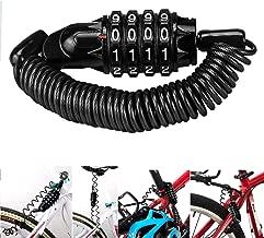 Magiin Mini Candado de Bicicleta Portátil Bloqueo de Cable de Bicicleta Antirrobo Reiniciable 4 Dígitos para Cerraduras de Equipaje de Viaje Bloqueo de Casco