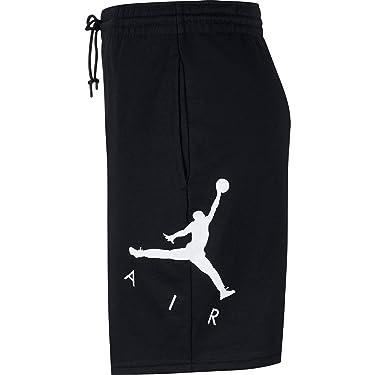 Jordan Air GFX Nike Men's Fleece Shorts (Black, Small)