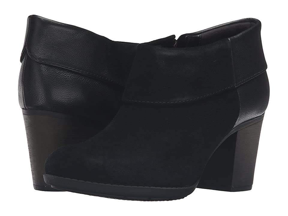 Clarks Enfield Canal (Black Suede/Leather) Women