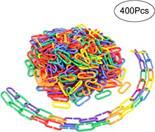 Greatstar 400 Pcs Plastic C-clips Hooks Chain Links C-links Glider Rat Parrot Bird Toy Parts For Sugar Gliders Cage Sets