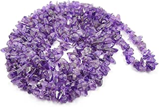 REBUY Natural Amethyst Stone Crystal Necklace/Mala for Reiki Healing