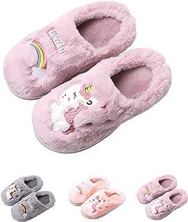 HausFine Zapatillas de Estar por Casa para Niñas Niños Invierno Zapatillas de Unicornio Interior Casa Caliente Pantuflas S...