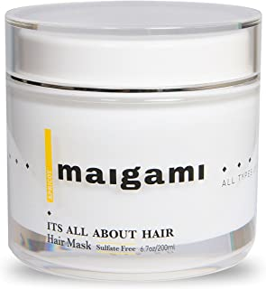 Maigami Luxury Hair Mask Repair Dry And Damaged Hair | Deep Conditioner , Sulfate Free Treatment, Amazing For Color Treated Hair And All Hair Types - 6.7 oz (Apricot)