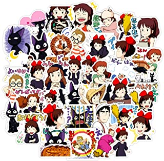 Cute Kiki's Delivery Service Scrapbook Stickers for Kids Girls Water Bottles Laptop Phone Notebook Luggage Bike Helmet Waterproof 50pcs