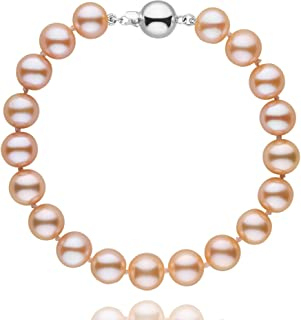8.5-9.0 mm Pink to Peach Freshwater AAA Cultured Pearl Bracelet