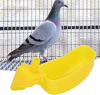 DAUERHAFT Las Tazas para Beber automáticas con Jaula para pájaros ofrecen Tornillos y Tubo para codornices(Quail Water Bow...