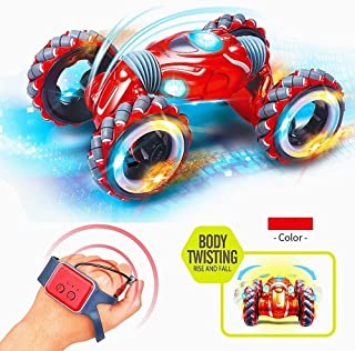 AIOJY New Light Music Big Wheel Children's Car Toy, Gesture Induction Off-Road Vehicle Drift Twisting Watch Controller, The Best Birthday Gift for Children (Color : E)