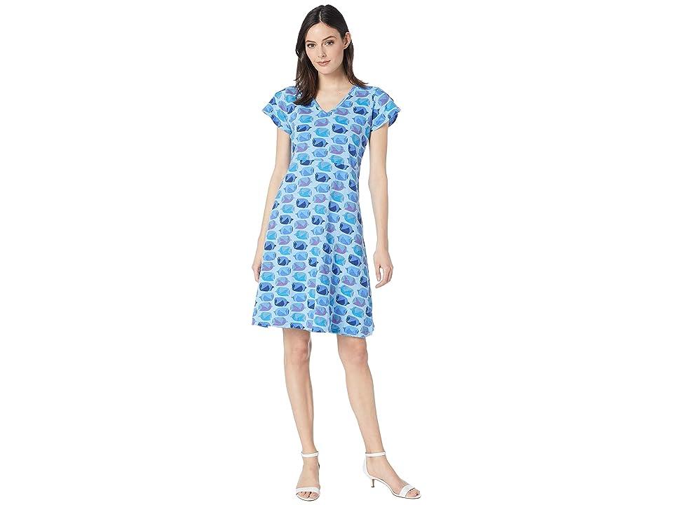 Fresh Produce Fish School Amelia Dress (Bayside Blue) Women