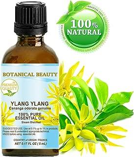 YLANG YLANG ESSENTIAL OIL- Cananga odorata genuina. 100% Pure Therapeutic Grade, Premium Quality, Undiluted. 0.17 Fl.oz.- 5 ml.