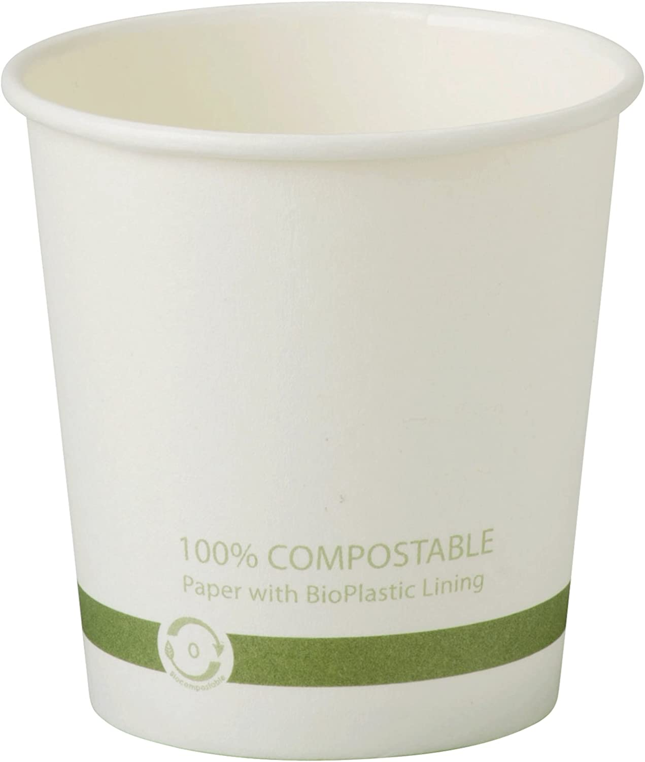 World Centric CU-PA-4 100% Compostable FSC Mix Paper Hot Cups, 4 oz, White (Pack of 1000)