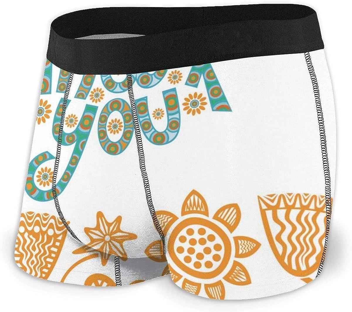 Randolph Wordsworth Mens Boxer Briefs Thank You Beautiful Cute Breathable Underwear