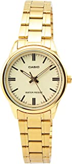 Casio Women's Analog Dial Stainless Steel Band Watch - LTP-V005G-9AUDF