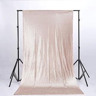 Fotoboth Hintergrund, 1,2 x 2,2 m, Champagner Pailletten Hintergrund, Kupfer Pailletten Stoff, Hochzeits Kulissen, rostfreier Hintergrund, Pailletten Vorhänge, Fotografie Hintergrund