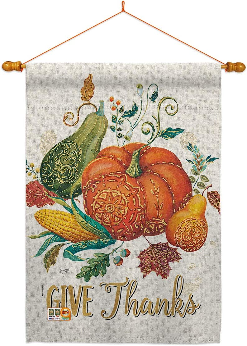 Breeze Decor Thanksgiving Suzani 物品 Give Dowel Se Flag House NEW Thanks
