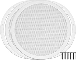 """Reliable Hardware Company RH-4002-10-2-A White Universal Surface Mount 10"""" Speaker Covers, Pair"""