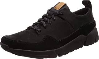 Clarks Men's Triactive Run Black Leather Sneakers
