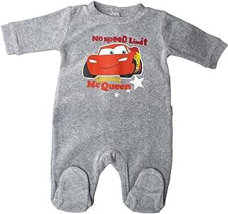 Disney Cars Pyjama/Schlafanzug/Strampler - Baby Lightning Mc Queen No Speed Limit - Grau